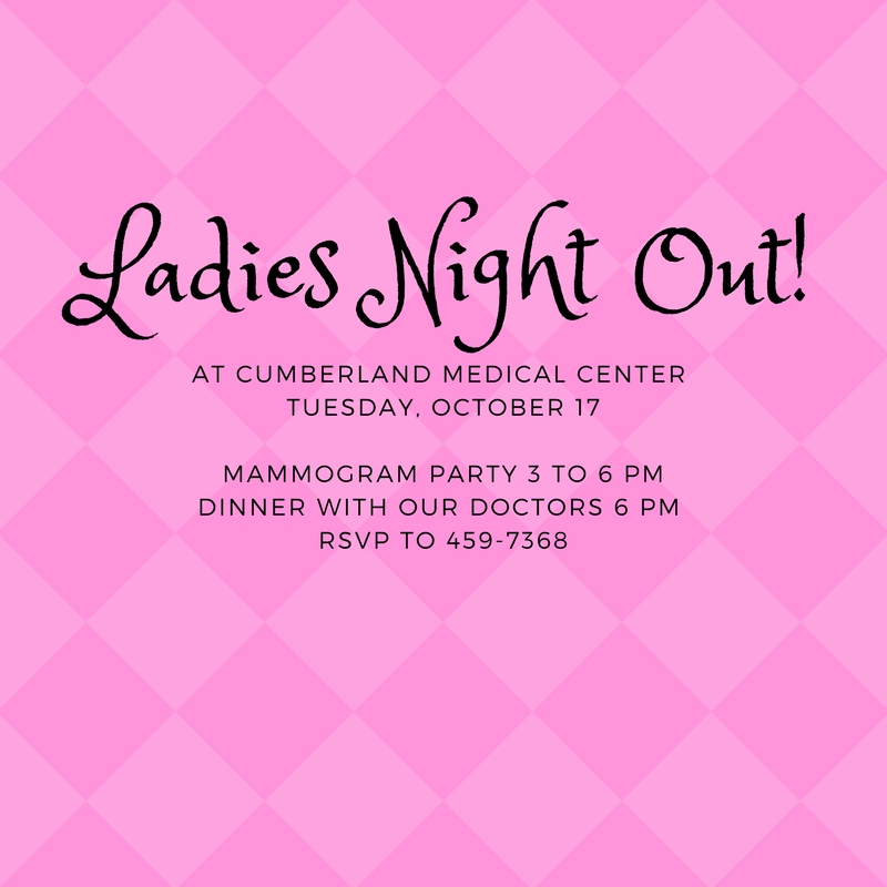 Ladies Night Out Oct. 17