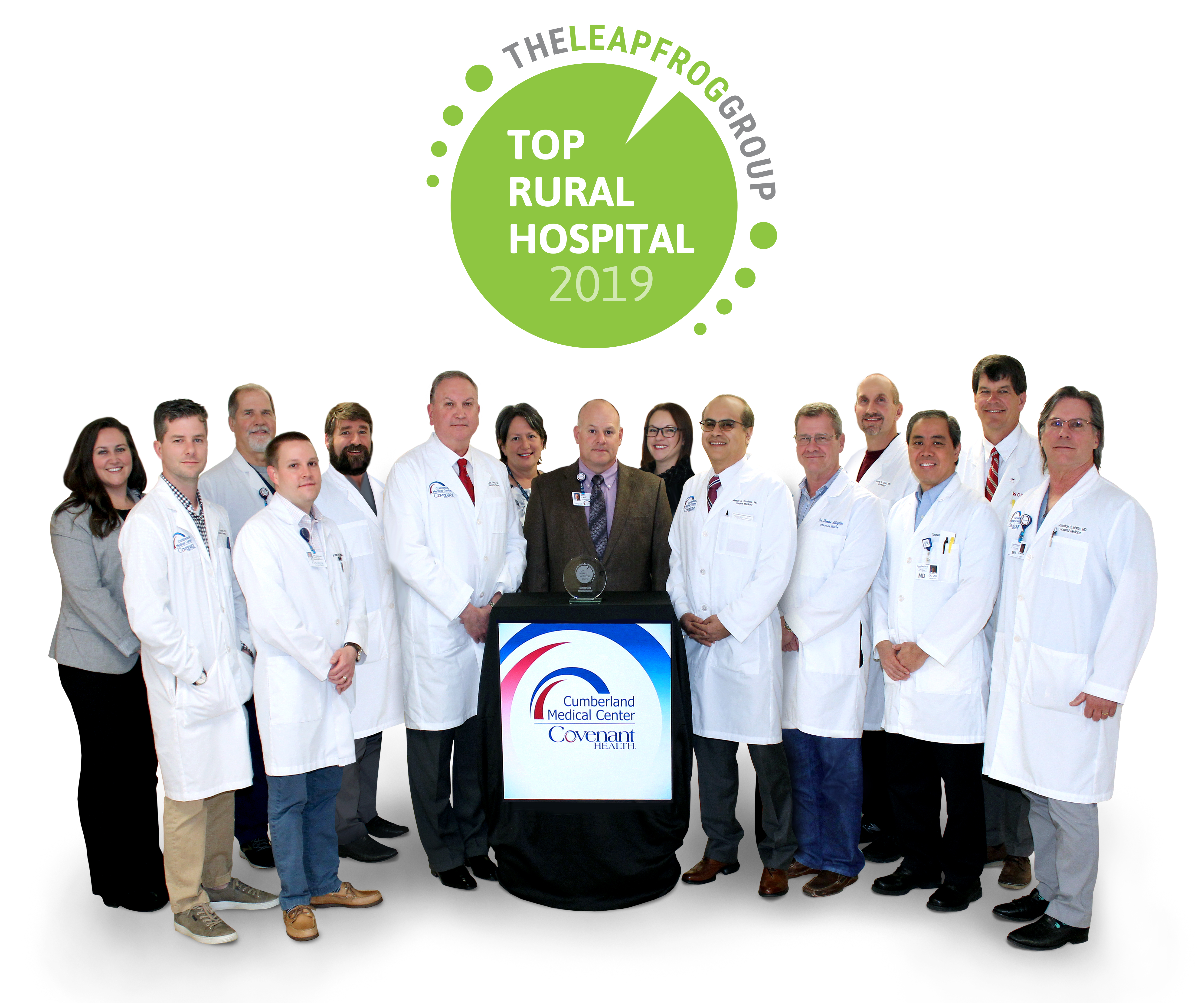 CMC members with Top Rural Hospital award